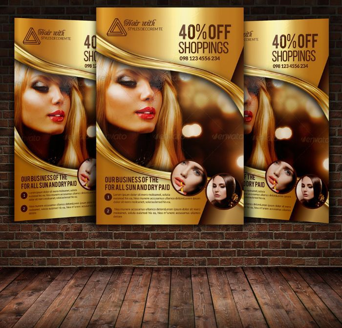 HairSaloonFlyerTemplatePsd   Beauty Salon Flyer Template Psd