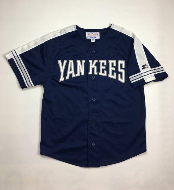finest selection 6b8a4 68527 1990s Vintage New York Yankees Starter Baseball Jersey | NY ...