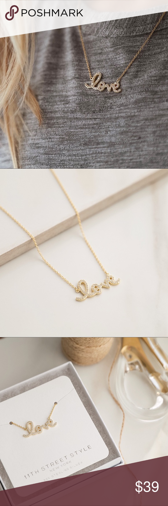 HN Jewels Lab Created Diamond Accent Stacked Two-Tone PlatedLove Paw Print Pendant 18 Chain 925