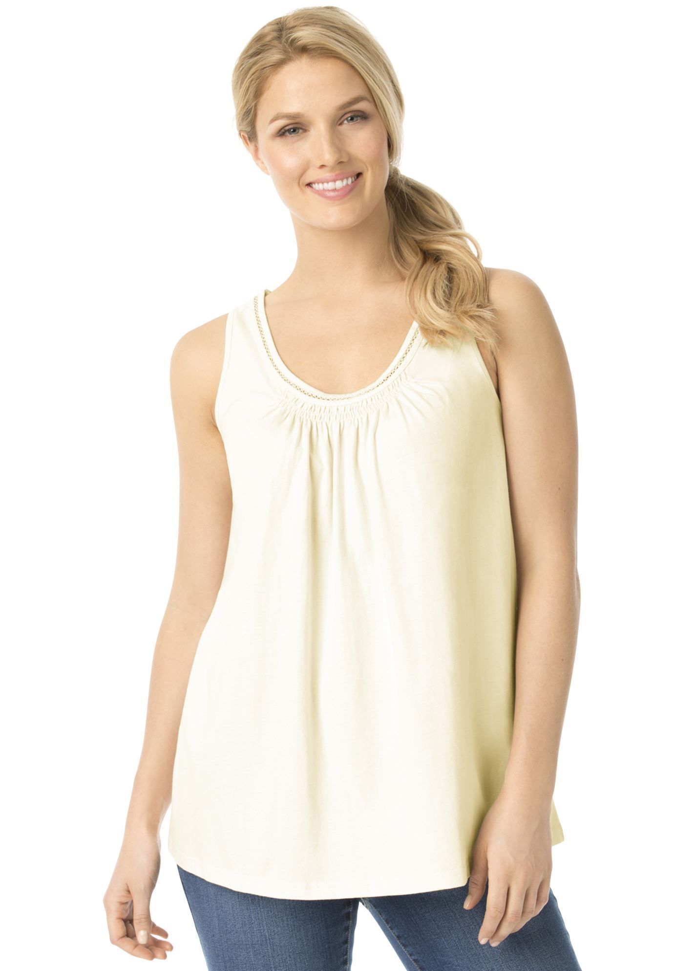 284f24d7c8dc3 The perfect stand-alone plus size tank top for the beautiful ...