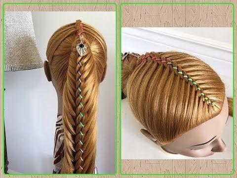 Trenza de 4 cabos con coleta peinados faciles y bonitos con trenza