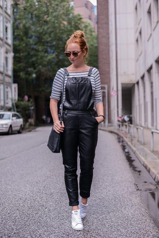 leder latzhose outfit-2   nahka   Pinterest   Dungarees, Leather ... 8f5e7d505f