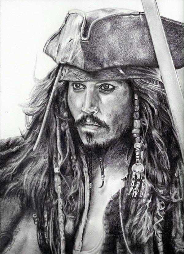 Pirati Dei Caraibi Disegno.Captain Jack Sparrow Pirati Dei Caraibi Pirati Schizzi
