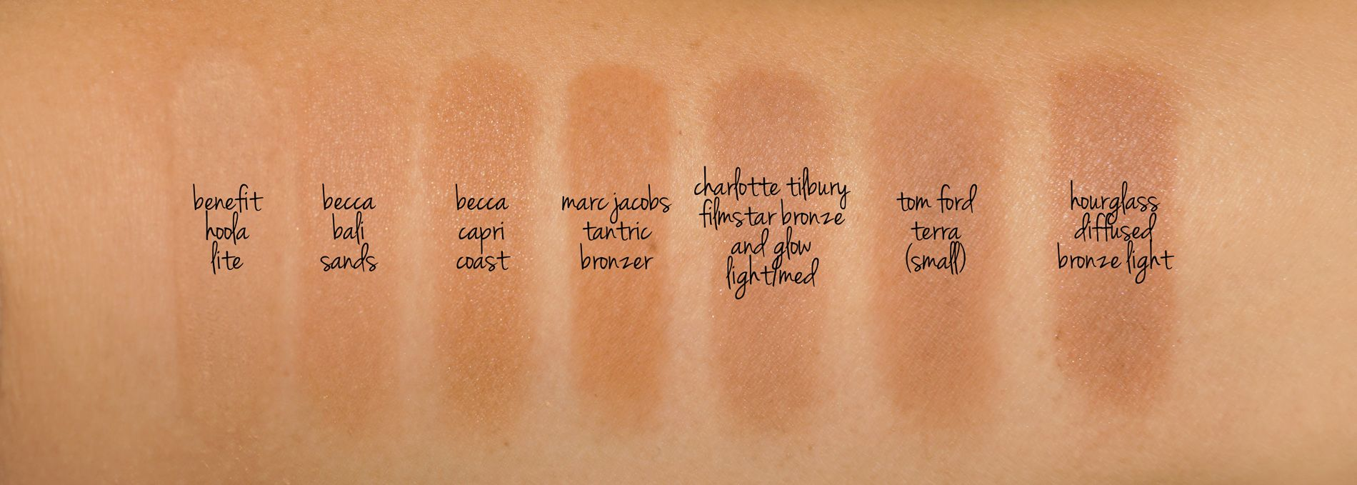 Bronzer swatch comparison | MAKEUP | Swatches & Shades in 2018 ...