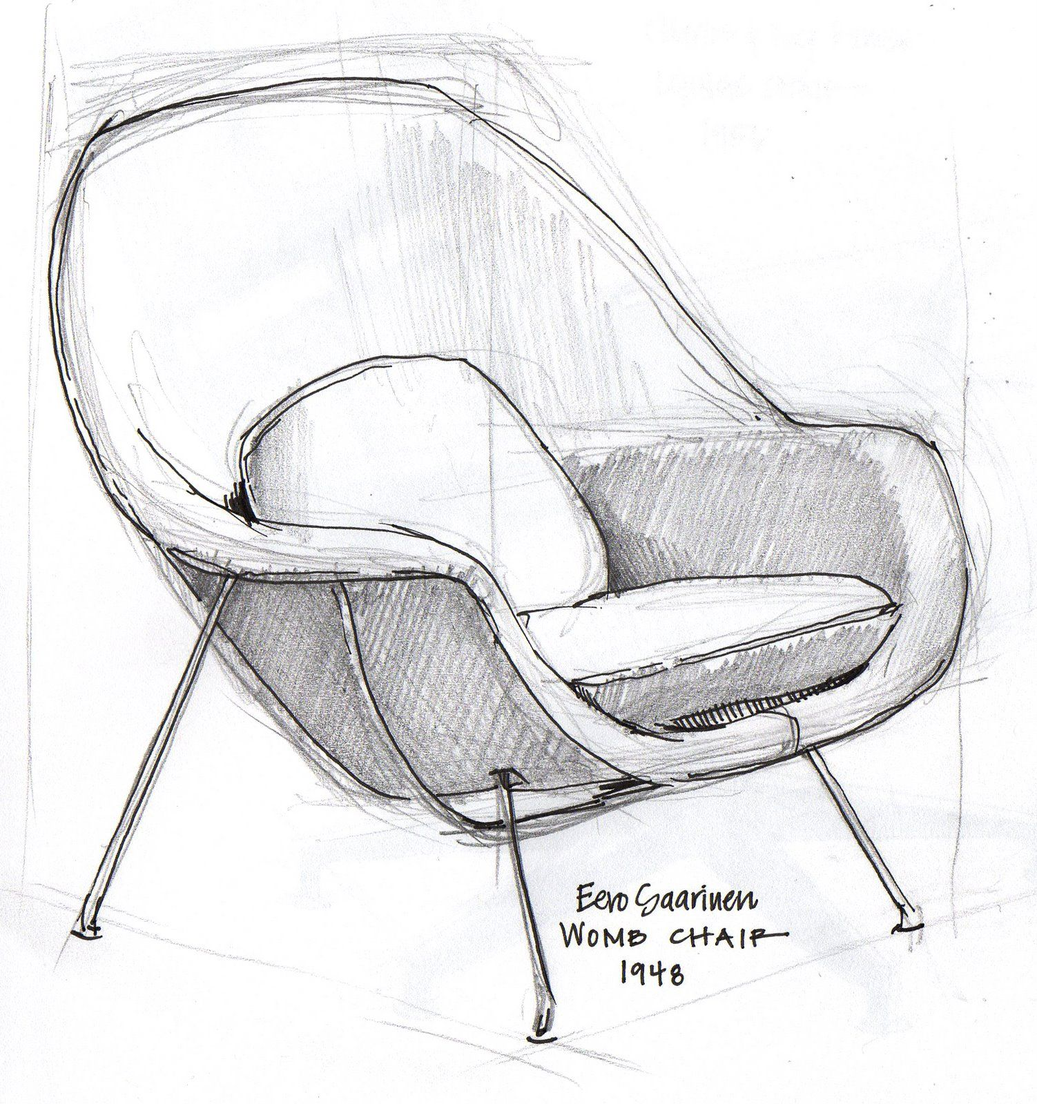 Eames Chair Drawing Goldilocks And The Designer Chairs Drawings Furniture