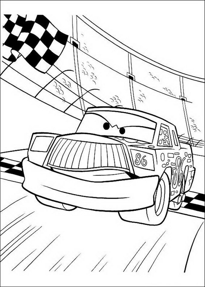 Chick Hicks Col Numero 86 Gareggia Cars Da Colorare Disegni Da