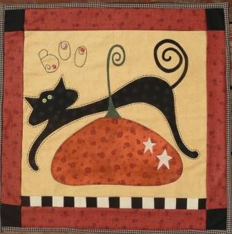 halloween quilt | Pumpkin Berries Stitchery Quilt Patterns ... : pumpkin quilt patterns - Adamdwight.com