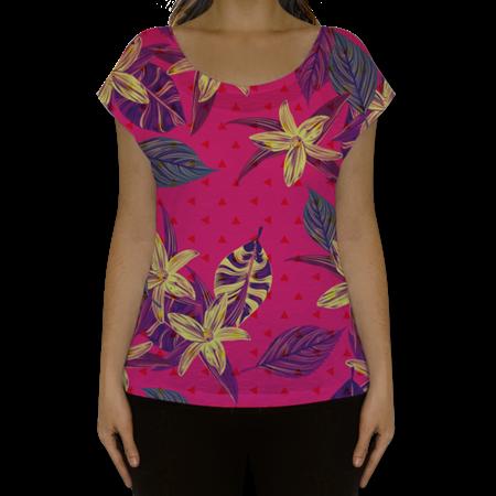 Camiseta fullprint Folhagem Rosa de @jurumple | Colab55