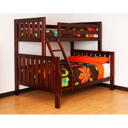 Canwood Alpine Ii Twin Over Full Bunk Bed With Ladder Guard Rail