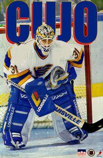 Curtis Joseph Cujo St Louis Blues Goalie Nhl Action Poster
