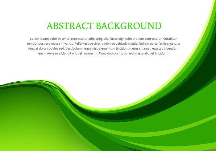 Green wave background design vector - Download Free Vector Art