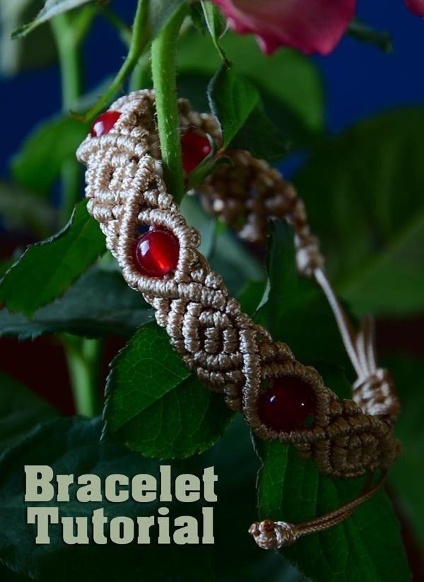 Tutorial green micro macrame bracelet on luulla.