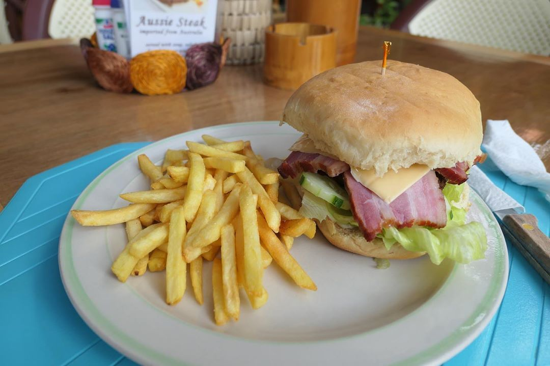 Burger once in a while  @blueabyssdiveresort ...   Burger once in a while  @blueabyssdiveresort