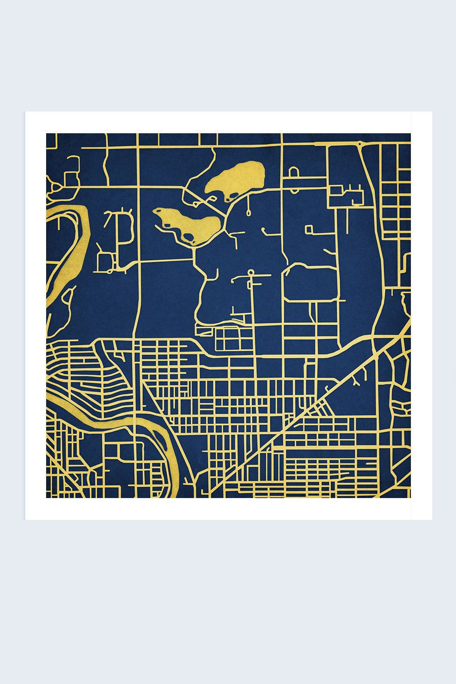 University of Notre Dame Campus Poster by City Prints   Graphic ...