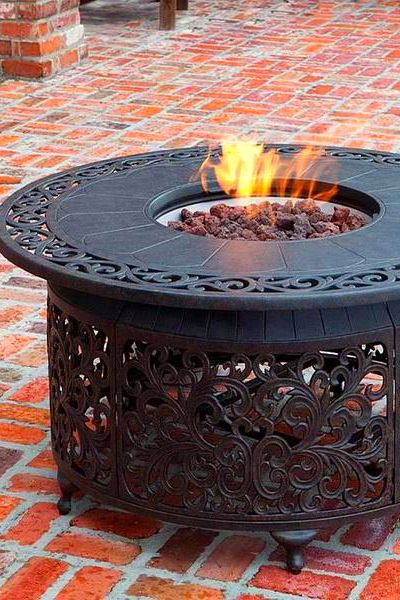 Portable brick fire pit grill ideas and red bricks for ...