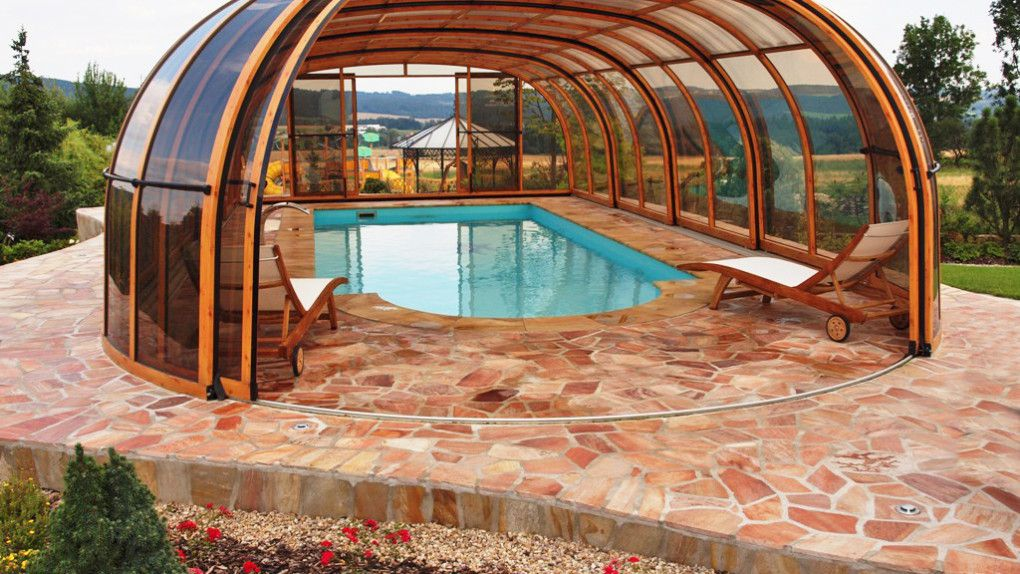 Pool enclosure olympic patio covers and pool enclosures for Garden pool covers