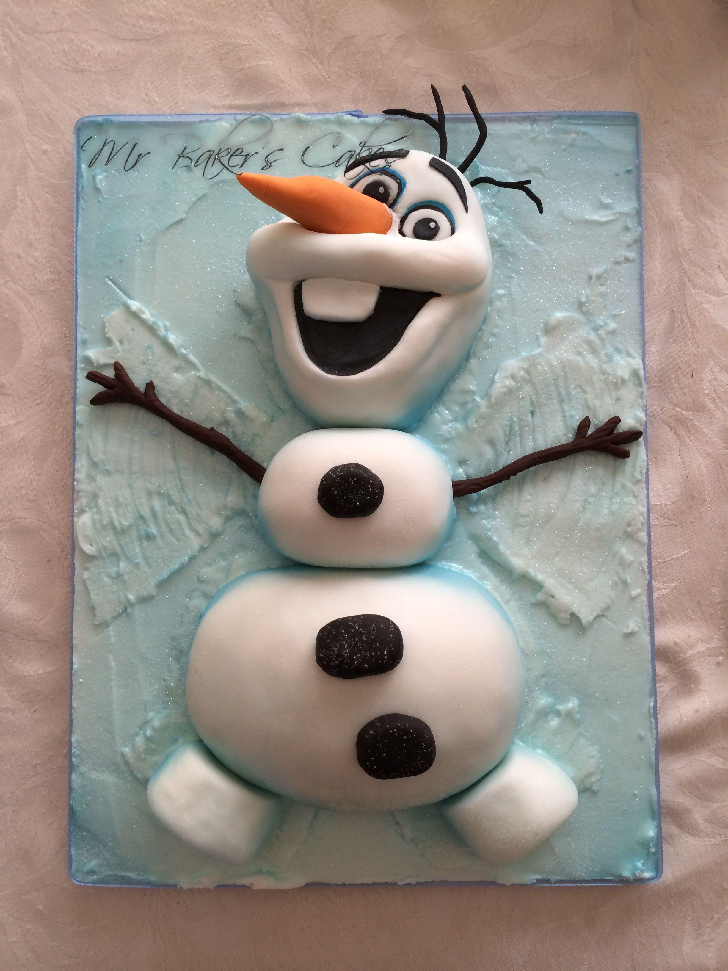 Frozen Olaf Snow Angel Cake Olaf Frozen Cake