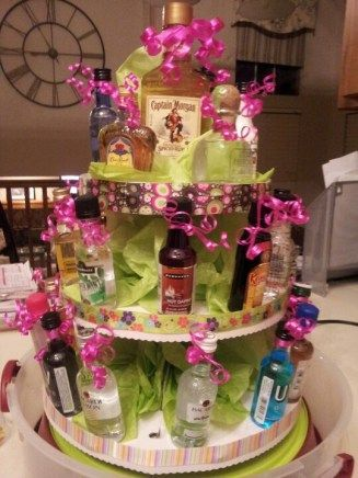 Liquor Bottle Cake Decorations 10 Fun 21St Birthday Ideas For Your Bestie  21St Birthday And
