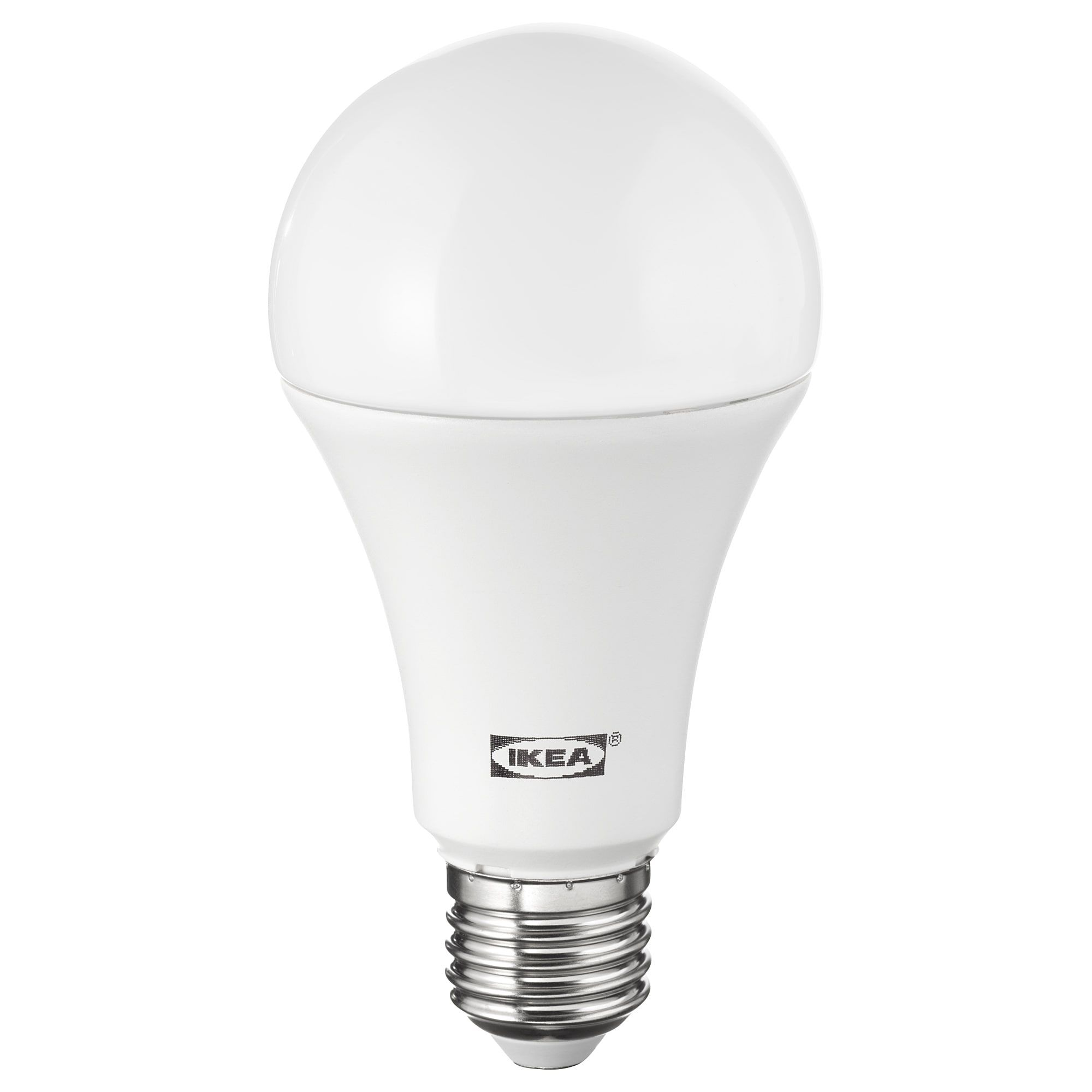 Ikea Ledare Led Bulb E27 1600 Lumen Warm Dimming Globe Opal White The Led Light Source Consumes Up To 85 Less Energy And Las Led Bulb Led Bulb