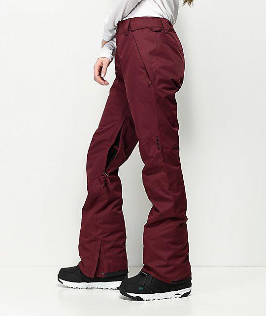 8fb592bf86 Billabong Malla Burgundy 10K Snowboard Pants | want | Snowboard ...