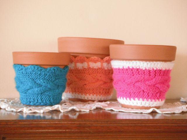Porta-macetas Crochet + Tricot