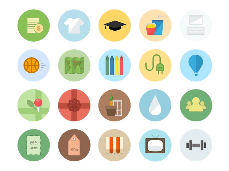 Category Icons Flat Design Icons Icon Design Inspiration Beautiful Web Design