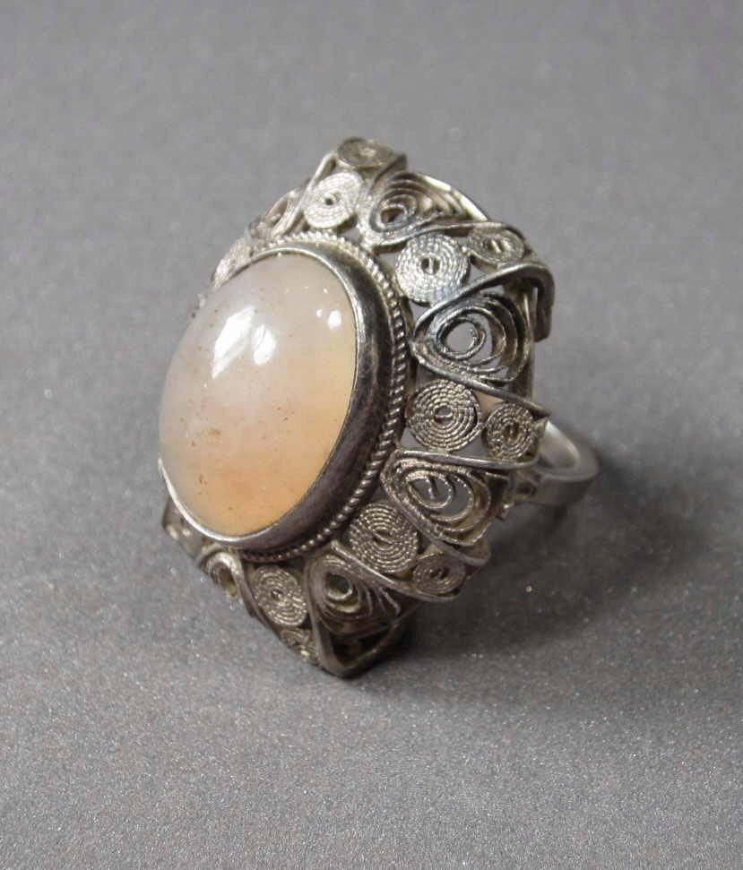 Prl Stary Duzy Srebrny Pierscien Imago Artis 8113715467 Oficjalne Archiwum Allegro Filigree Jewelry Jewelry Holiday Jewelry
