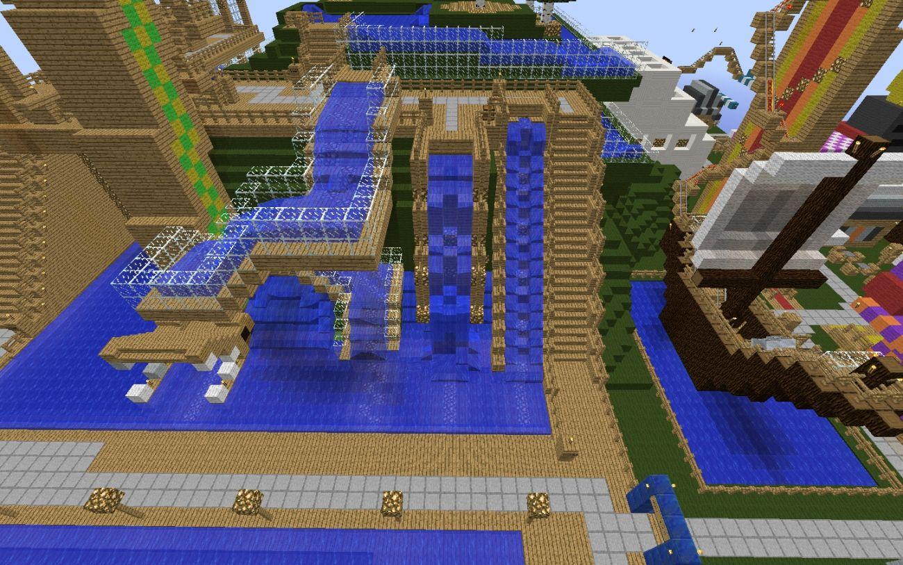 Wasserrutsche Eine Wasserrutsche ZB Für Ein Schwimmbad Auf Dem - Minecraft hauser bauideen