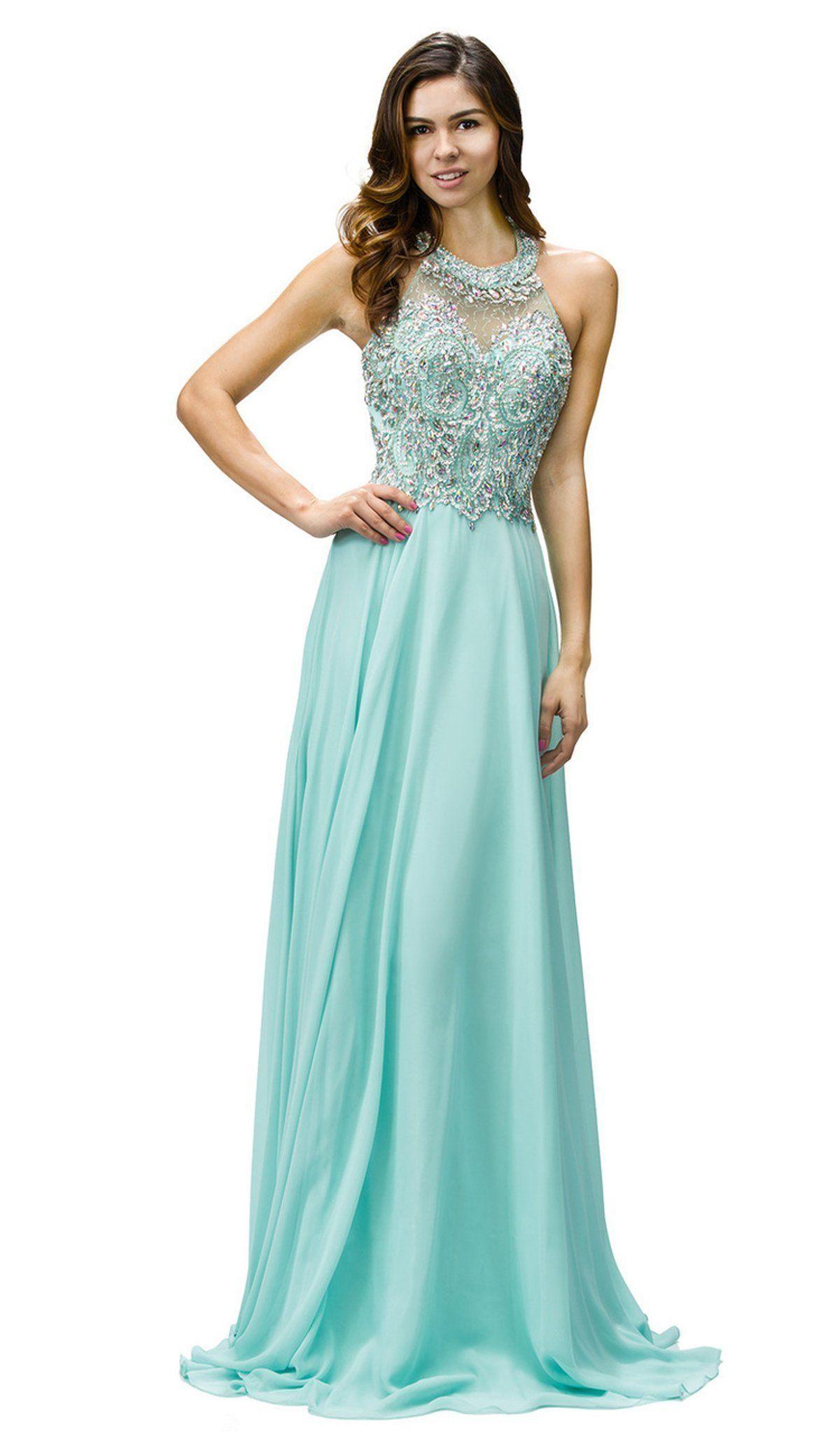 Dancing Queen 9233 Jewel Adorned Illusion Chiffon Prom Dress In 2020 Chiffon Prom Dress Prom Dresses Dresses [ 2048 x 1200 Pixel ]