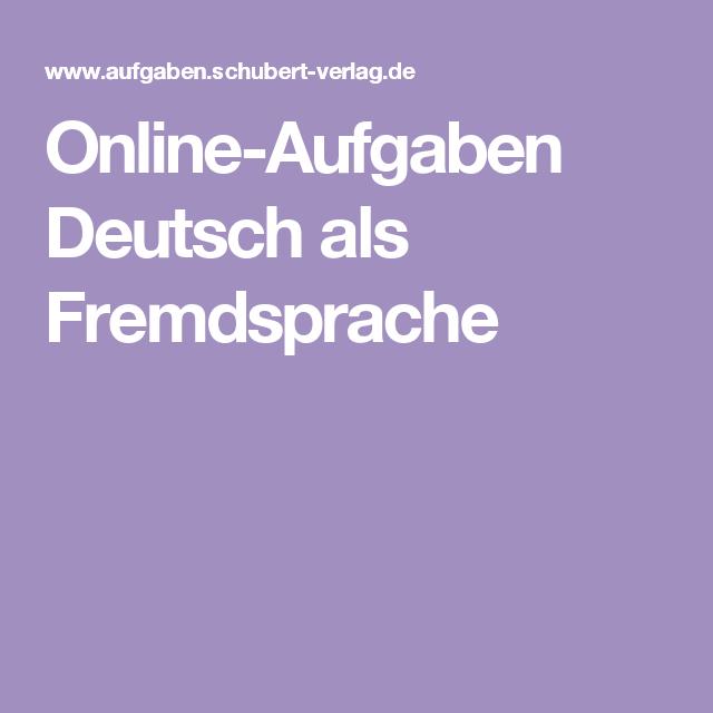 online aufgaben deutsch als fremdsprache d ller deutsch als fremdsprache fremdsprache und. Black Bedroom Furniture Sets. Home Design Ideas