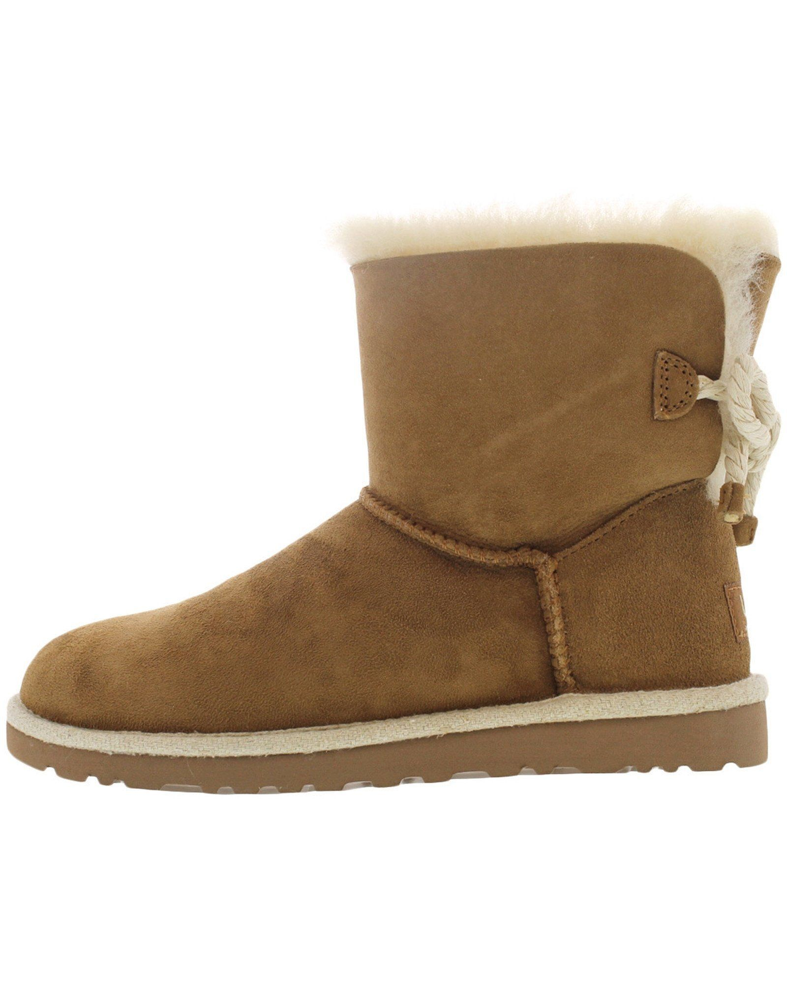 UGG - Women's Selene Suede Ankle Boots - Chestnut