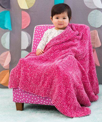 Basketweave Baby Blanket Free Knitting Pattern In Red Heart Yarns