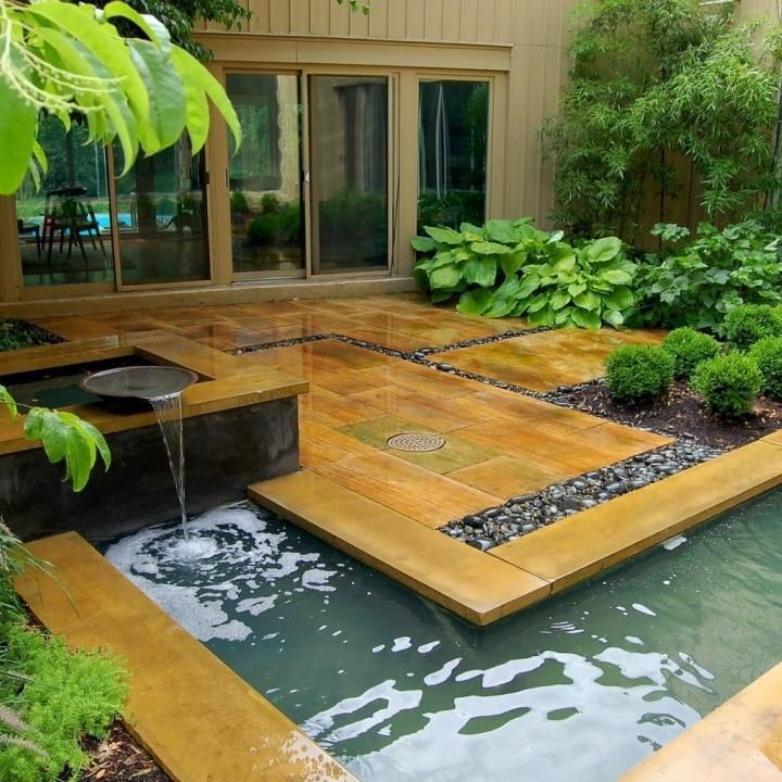 A garden attached to the house where one is able to meditate A