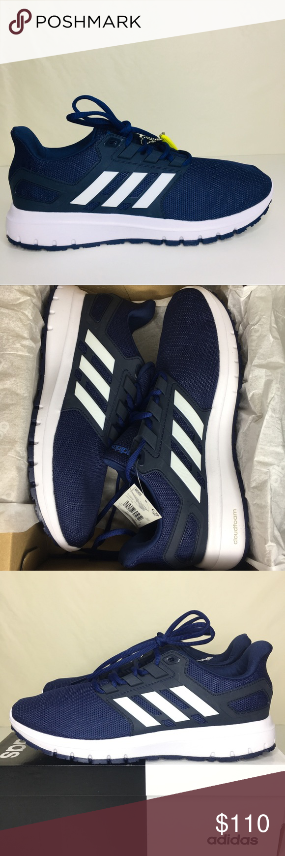 Adidas Energy Cloud 2 Running Shoes Size 10 Give Your Running Routine An Extra Boost With The Energy Cloud 2 Running S Adidas Blue Adidas Shoes Sneakers Adidas