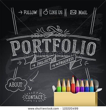 Web design portfolio template, vector illustration. by PremiumVector, via Shutterstock