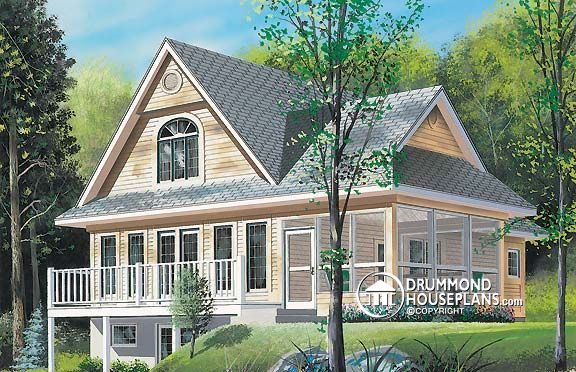 House Plan W4940 Plan Description Main Level Closed