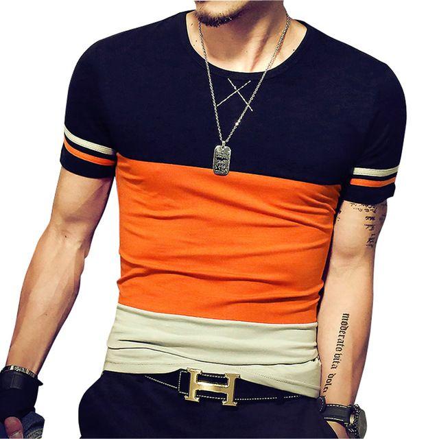 Special price 2017 Summer New Design Men T Shirt Fashion Patchwork ...