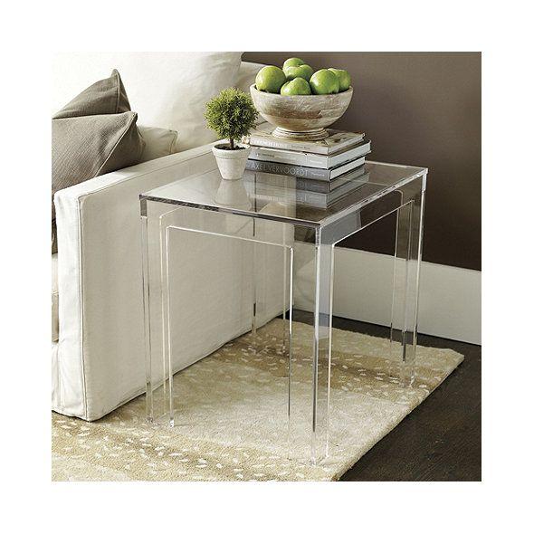 Felicity Acrylic Rectangular Side Table With Images Acrylic