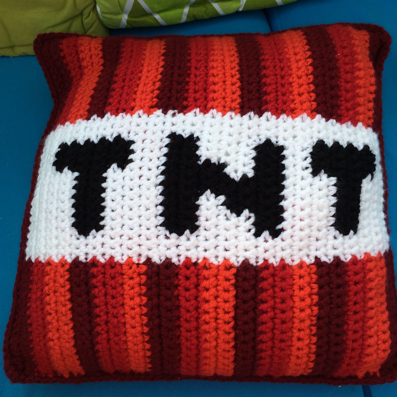 Minecraft TNT crochet | Minecraft | Pinterest