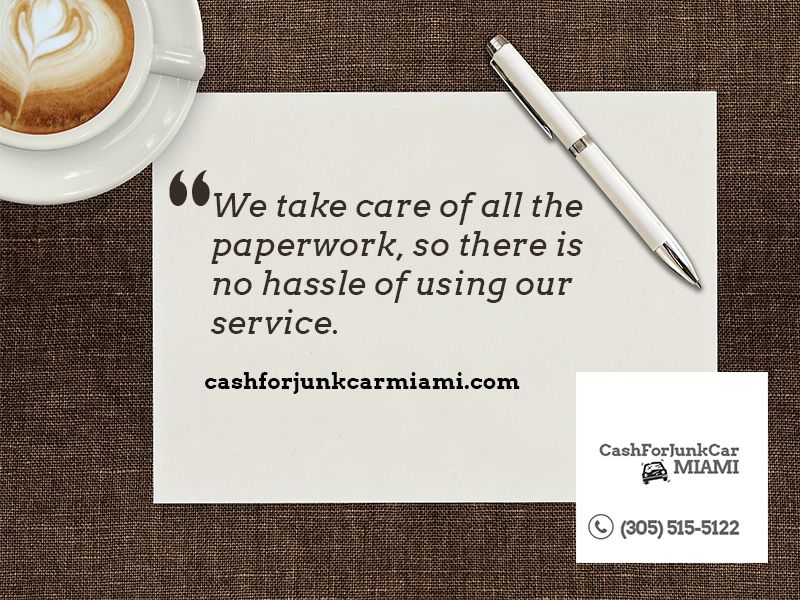 We take care of all the paperwork, so there is no hassle