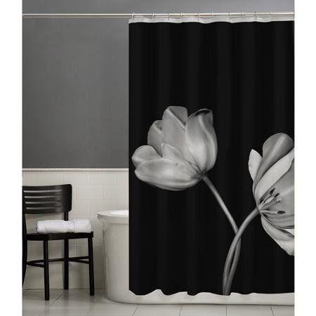f0aba28dcc3 70 x 72 Contemporary Look Tulip PEVA Vinyl Shower Curtain...