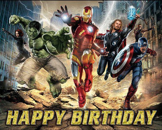 Avengers Theme Party Custom Avengers Birthday Vinyl Banner Marvel Party Avengers Party Banner Marvel Banner