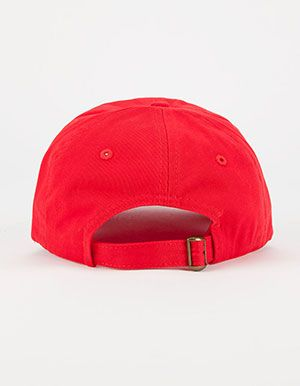 Solid Twill Dad Hat Red