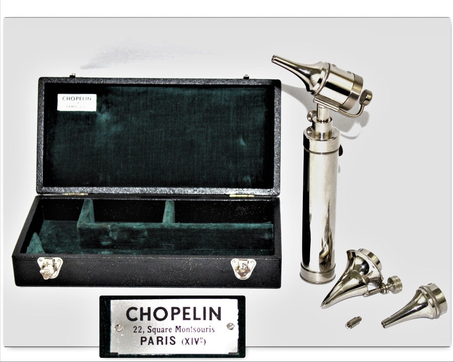 Vintage Medical Equipment French Chopelin Otoscope