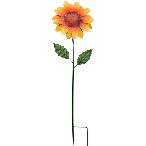Regal Art  Gift Yellow Sunflower Garden Stake ($15) ❤ liked on