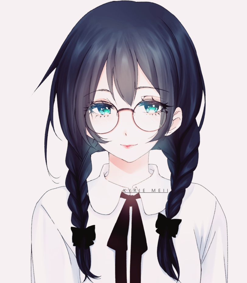 Anime Characters Glasses : Anime girl with glasses pinterest