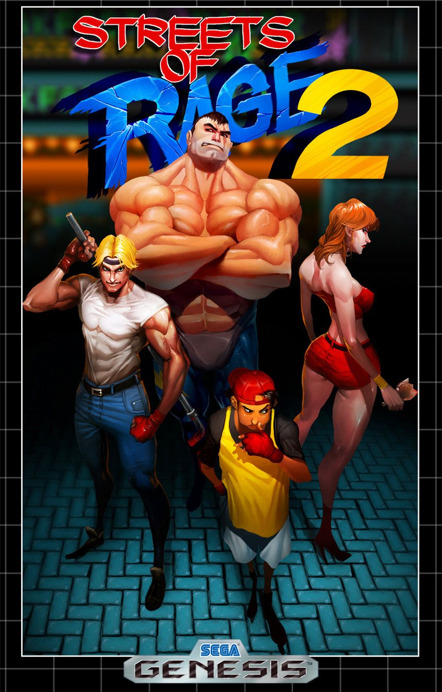 Streets Of Rage 2 By Darkdux Deviantart Com Classic Video Games