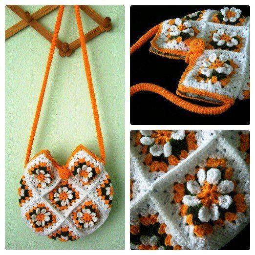 Delicadezas en crochet Gabriela: Bolso de motivos | maquillaje ...