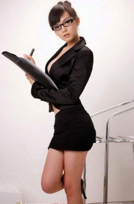 Asian girl and teacher