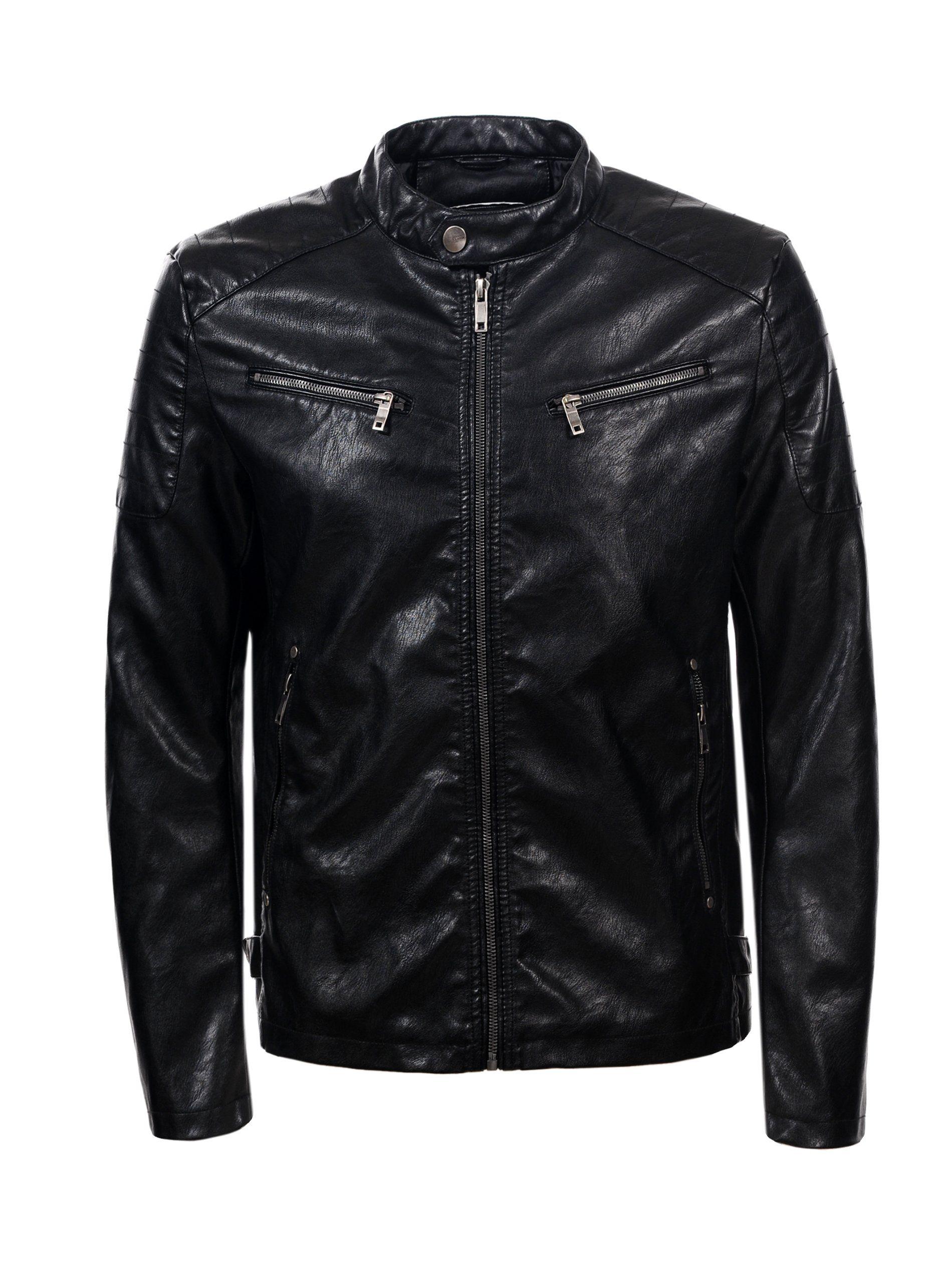 Skorzana Kurtka Meska Eko Skora Meska Ramoneska M 7231003334 Oficjalne Archiwum Allegro Leather Jacket Fashion Jackets